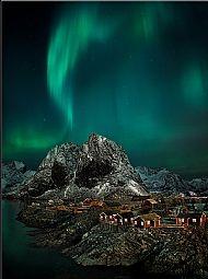 Landscape, Silver Medal<br>Aurora over Hamnoy