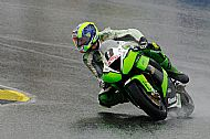 Racing through the rain