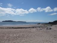 Sanda Island from Macharioch Beach.