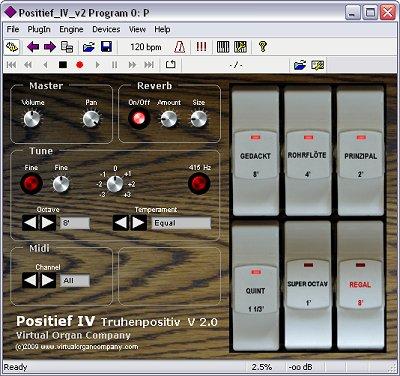 virtual organ company positief iv virtual vst german chest organ software module screenshot