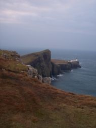 Neist Point Lighthouse, most westerly point in Scotland 20 min. walk away, fantastic fishing