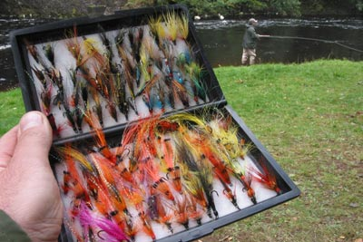 salmon fishing fly box