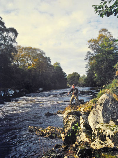 salmon fishing on the kildermorie beat, river alness or river averon