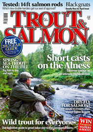 novar fishings, river alness, trout and salmon magazine cover