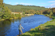 salmon fishing on the river alness