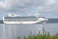 caribbean princess cruise ship docked at kirkwall.