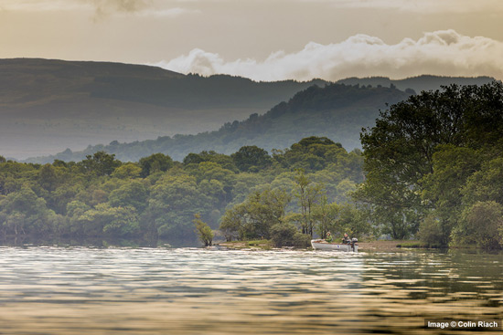boat fishing on loch lomond
