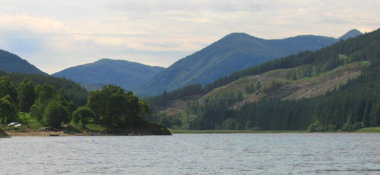 troutquest excursion - wild brown trout fishing on loch meig, ross-shire