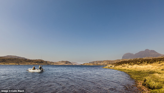 trout fishing on loch veyatie