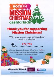Rock FM Mission Christmas Appeal