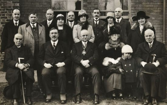 shepherd street committee  with mayor 1926