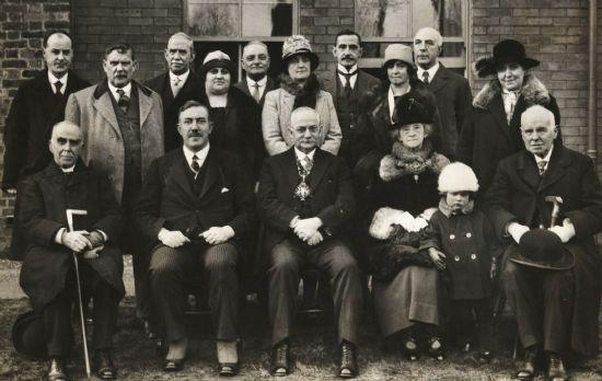 shepherd street committee  with mayor 1926