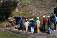 Going underground at Wanlockhead mine -  1989