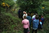 Tom Byars showing members around Brownside Braes - 1995