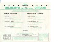 Circus Programme 1966