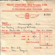 Coach Trip Ticket 1956