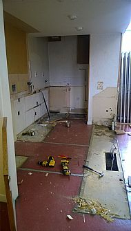 Coffee Room Kitchen Demolition!