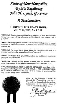 Proclamation of the Governor of New Hampshire