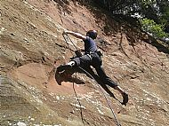 Sport climbing at Coudy rock