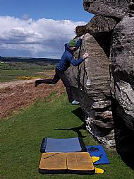 Bouldering at Shaftoe, Northumberland