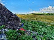 Bouldering at Carrock Fell in the Lake District