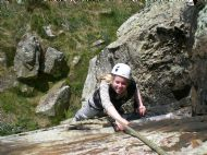 Natalie cruising up 'original route' at Back Bowden - Northumberland
