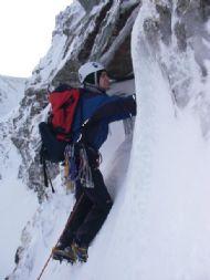 Winter climbing in Creag Megaidh