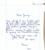 Lief briefje van Sonse fan