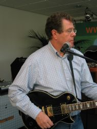 Timo tijdens een repetitie voor BttS 2007
