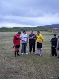 Darren McKay of Durness presents The Marty McKay memorial Quaich to Kirkhill