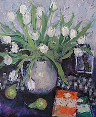 Still Life with White Tulips