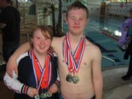 Just good friends!! David and Eilidh 2007 Swimming Championships