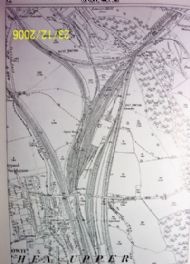 1882 Map showing Pontypool Rd Rail Network and Coed-y-Gric Junction(Old Station Top Right)
