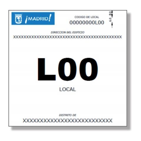 Ejemplo de cartel identificativo de locales para fiestas de la comunidad de madrid