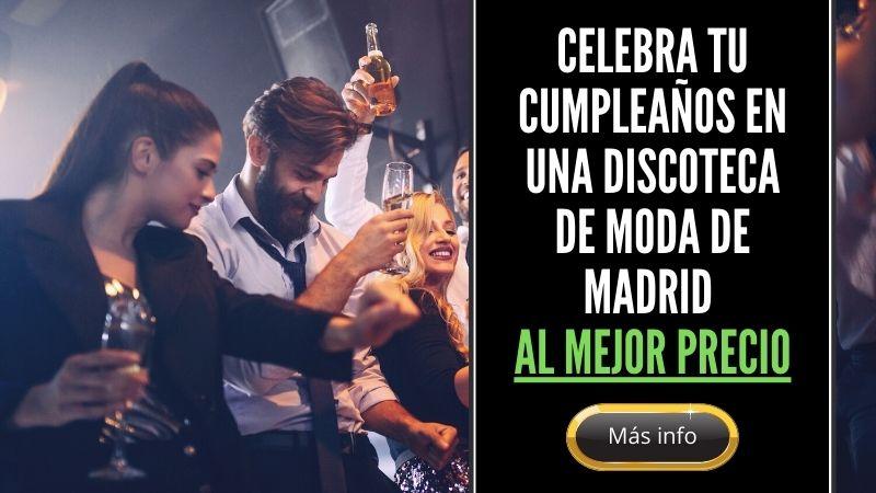 Celebración de cumpleaños en una discoteca de Madrid centro