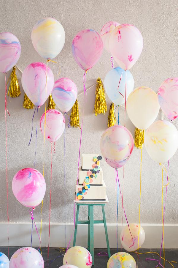 globos veteados cumpleaños