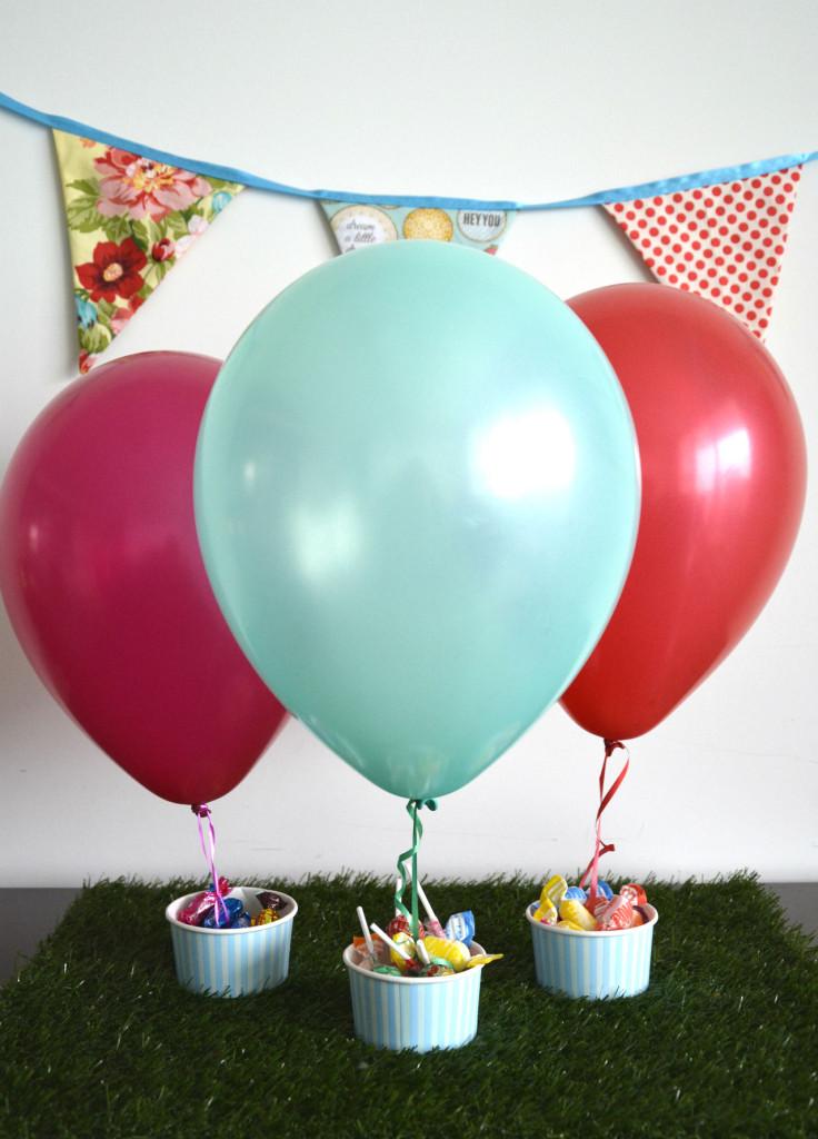 globos en vasos decoracion