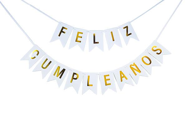 guirnalda felicitando el cumpleaños