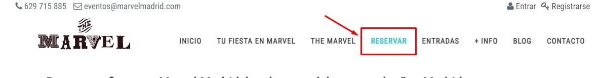 Procedimiento para reservar en Marvel