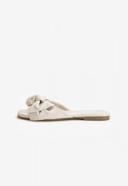 Inuovo Mules Leather Creme