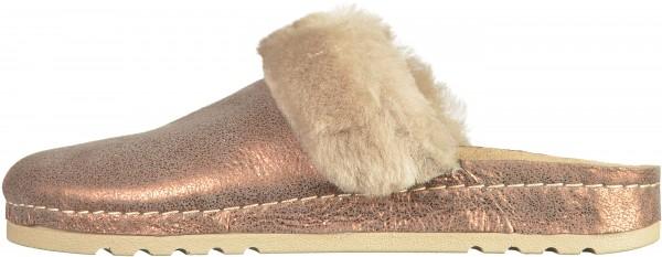 Rohde Pantoletten Textil Kupfer Warmfutter