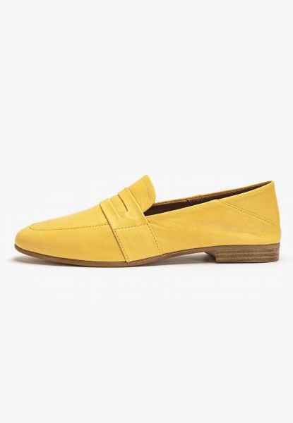 Inuovo Loafers Leather Mustard