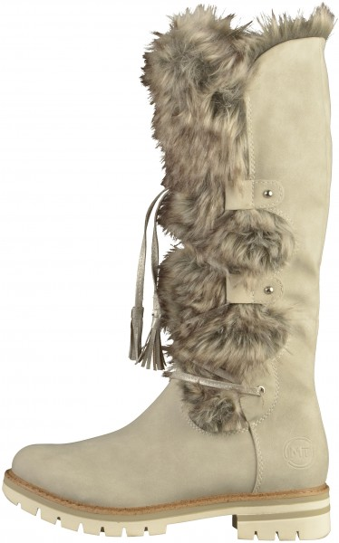 Marco Tozzi Stiefel Lederimitat/Textil Grau Warmfutter