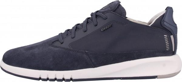 Geox Sneaker Veloursleder/Textil Dunkelblau