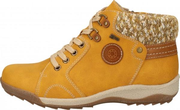 Relife Sneaker Lederimitat/Textil Gelb Warmfutter