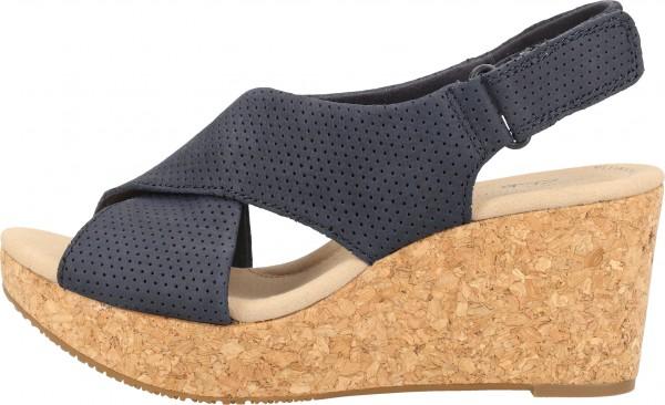 Clarks Sandals Nubuk leather Navy