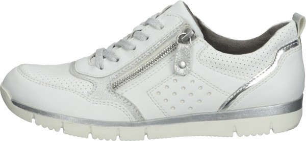 Relife Sneaker Lederimitat/Textil Weiß/Silber