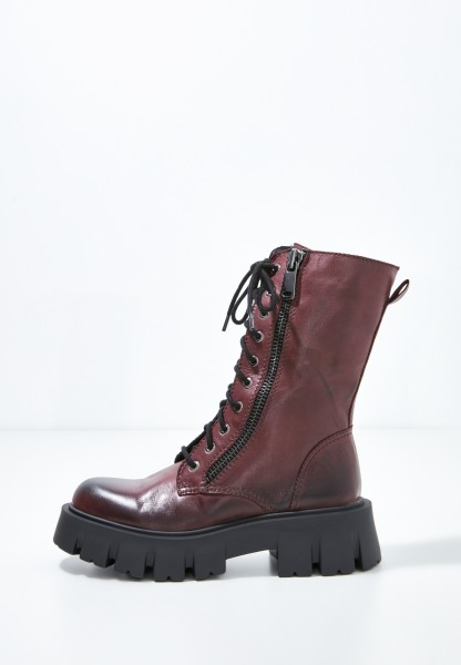 Inuovo Boots Leather Dark red