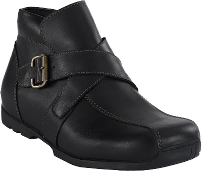FOOTPRINTS Burnley Boots Naturleder Schwarz
