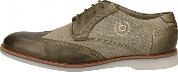 Bugatti Halbschuhe Leder/Textil Grün